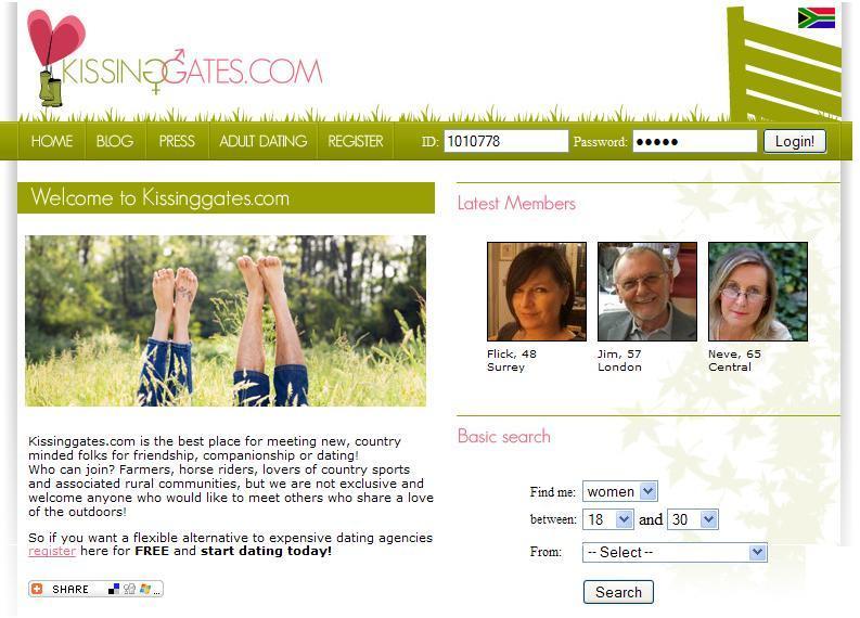 Kissing gates dating website